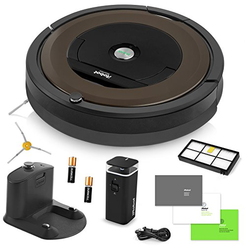 iRobot Roomba 890 Robotic Vacuum Cleaner with Wi-Fi Connectivity + Manufacturer's Warranty + Extra Sidebrush Bundle
