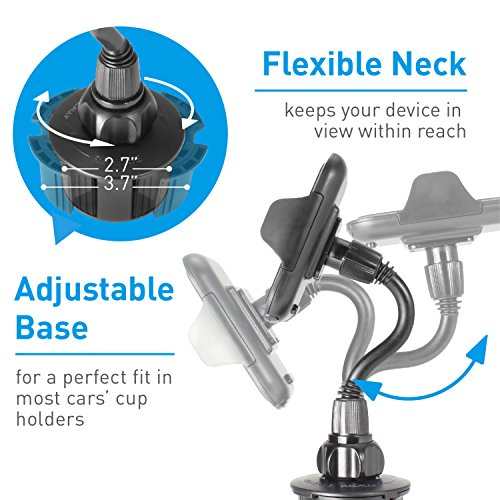 Macally Car Cup Holder Phone Mount with Longer Neck & 360° Rotatable Cradle for iPhone X 8 8 Plus 7 7+ 6s 6 SE, Samsung Galaxy S9 S9+ S8 S7 Edge S6 Note 5, Smartphones, GPS etc. (MCUPXL) by Macally (Image #5)