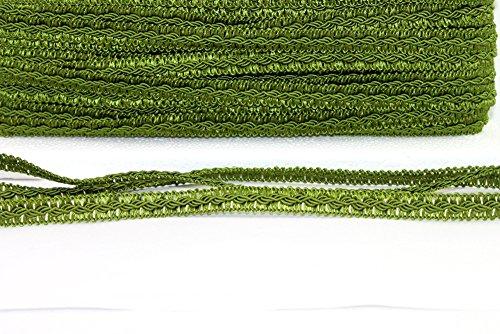 Borte mit Posamenten 5m olive 12mm breit