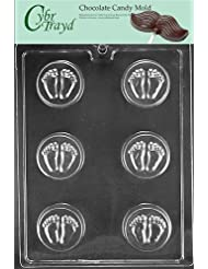 Cybrtrayd Life of the Party B057 Baby Feet Cookie Mold Baby Chocolate Candy Mold in Sealed Protective Poly Bag Imprinted with Copyrighted Cybrtrayd Molding Instructions