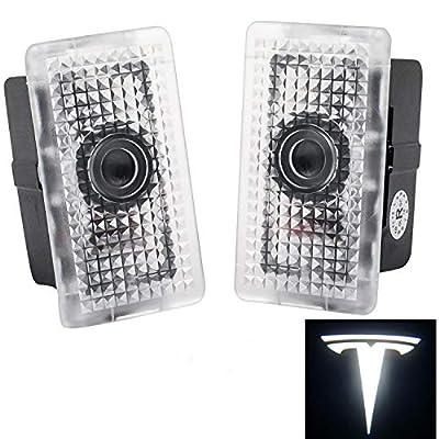 Tesla Model 3 Ultra-Bright LED Puddle Door Lights Car Logo Projector Door Step Light for Tesla Model 3 (pair) [Upgraded]