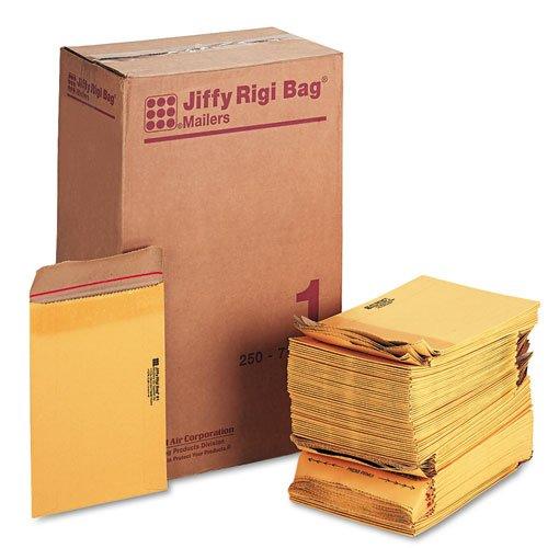Jiffy Rigi Bag Mailers (#1, 7-1/8-Inch x 10-3/8-Inch, Case of 250)