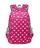 Sweet Hearts Kids School Backpacks For Kindergarten Girls Preschool School Bags Bookbag (Small,Rose Red 2)