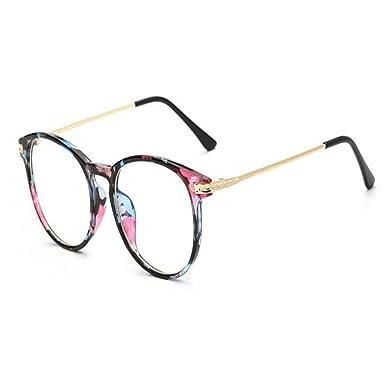 super promotions de gros le rapport qualité prix Hzjundasi Lumière bleue Filtre Ordinateur Des lunettes Anti-rayonnement UV  Lentille claire Vintage Rond Goggle Hommes/Femmes