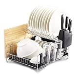 PremiumRacks Professional Dish Rack - 304 Stainless Steel - Fully Customizable - Microfiber Mat Included - Modern Design - Large Capacity