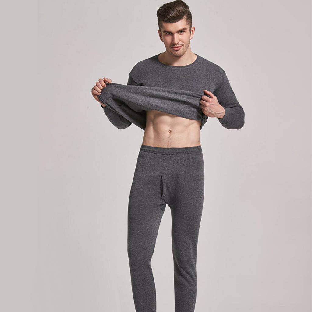 Pantalon Quick Dry Sou Vetement pour Lentra/înement Ski Running Randonn/ée KiyomiQaQ Ensemble de sous-V/êtements Thermiques Homme Thermal Underwear Set Sport Base Layer Maillot Manches Longues