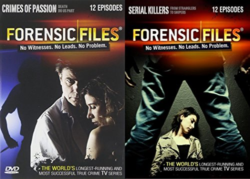 Forensic Files Collection 24-Episodes of Crimes of Passion & Serial Killers - From Strangers to Snipers - 4-DVD Bundle