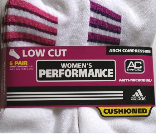Adidas Socks for Women - 6 Pairs - Low Cut
