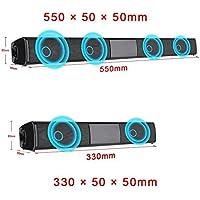 FidgetFidget Bluetooth Speaker Sound Bar Wireless V4.2 TV Home Theater Soundbar Subwoofer -Fh 2 Speak Driver