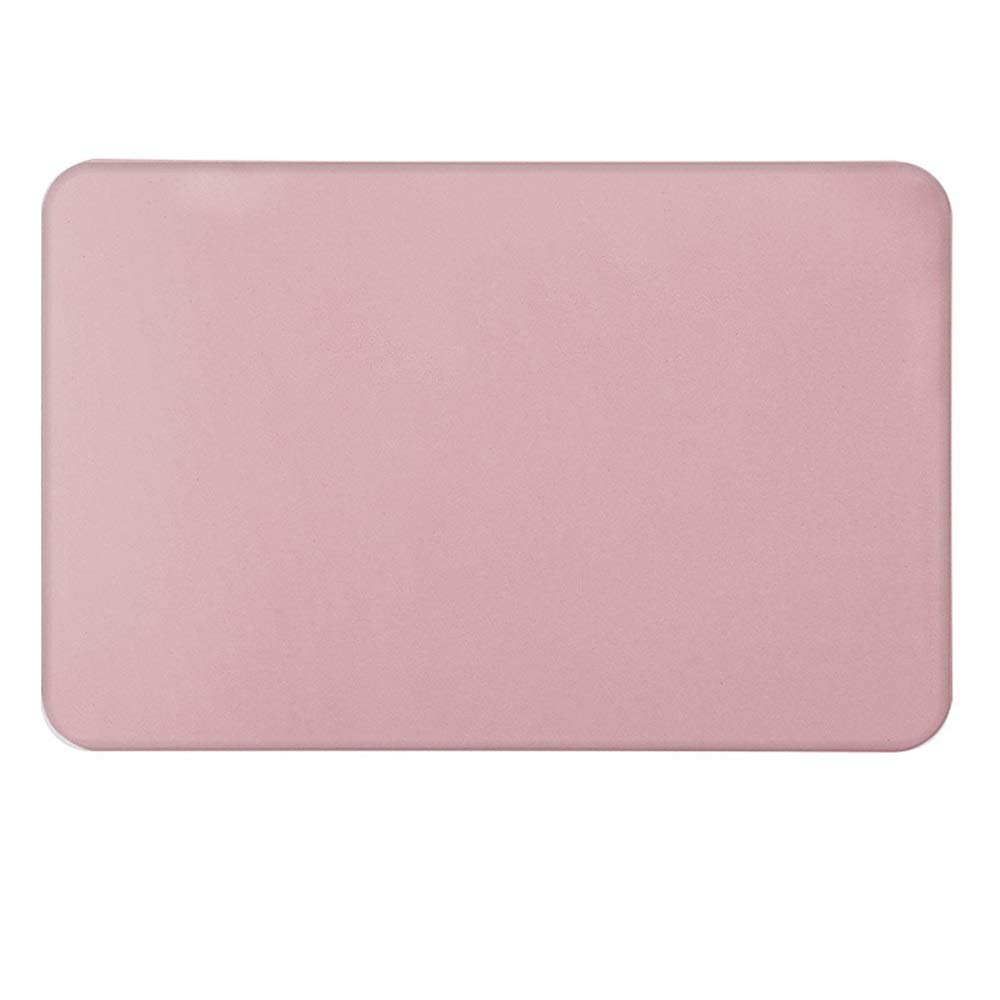TOMSSL Pink Natural Diatomaceous Earth Bath Mat Absorbent and Quick-Drying Does Not Fade Furniture Versatile Brushed Surface Mat (Size : 3545)