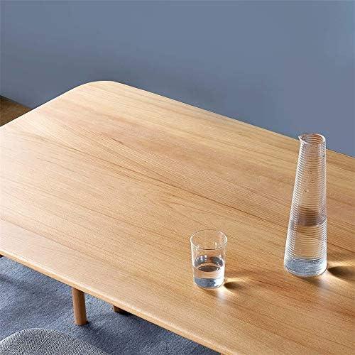ベッドトレイ 固体木製の丸いダイニングテーブルの安定したアンチスクラッチ丸いコーナーテーブル (Color : Beige, Size : 138 x 80 x 74cm)