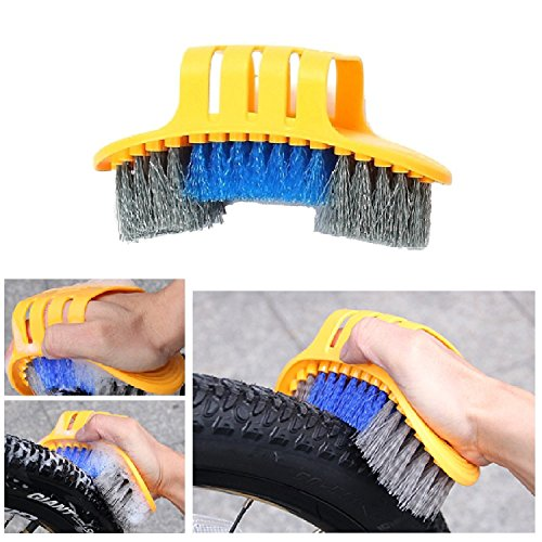 Anndason 8 Pieces Precision Bicycle Cleaning Brush Tool Including Bike Chain Scrubber, suitable for Mountain, Road, City, Hybrid,BMX Bike and Folding Bike by Anndason (Image #1)