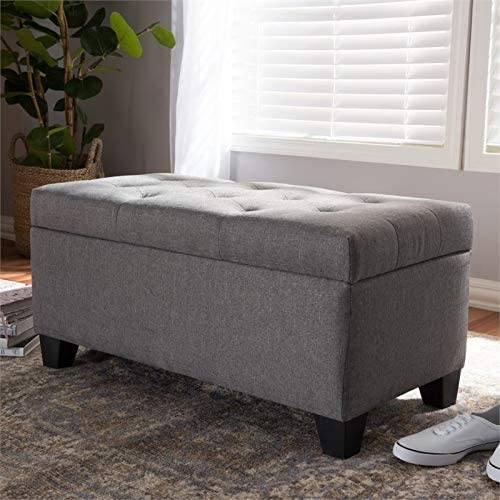 Baxton Studio Michaela Upholstered Storage Ottoman Bench - the best ottoman chair for the money