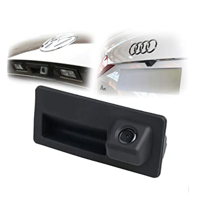 170 degree Car Trunk Handle Backup Camera Rear View HD Camera Night Vision parking camera Reverse Parking Assistance for Audi for VW Tiguan/Golf/Jetta/Passat/Touran/Touareg/Lavida/Sagitar/Caddy: Automotive