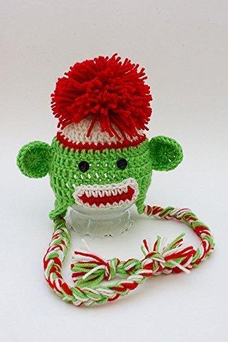 Amazoncom Crochet Sock Monkey Hat Handmade