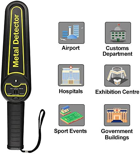 ALLOSUN Metal Detector Handheld Security Wand