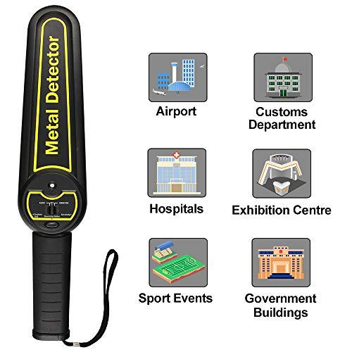 ALLOSUN Metal Detector Handheld Security Wand (Security Metal Detectors)