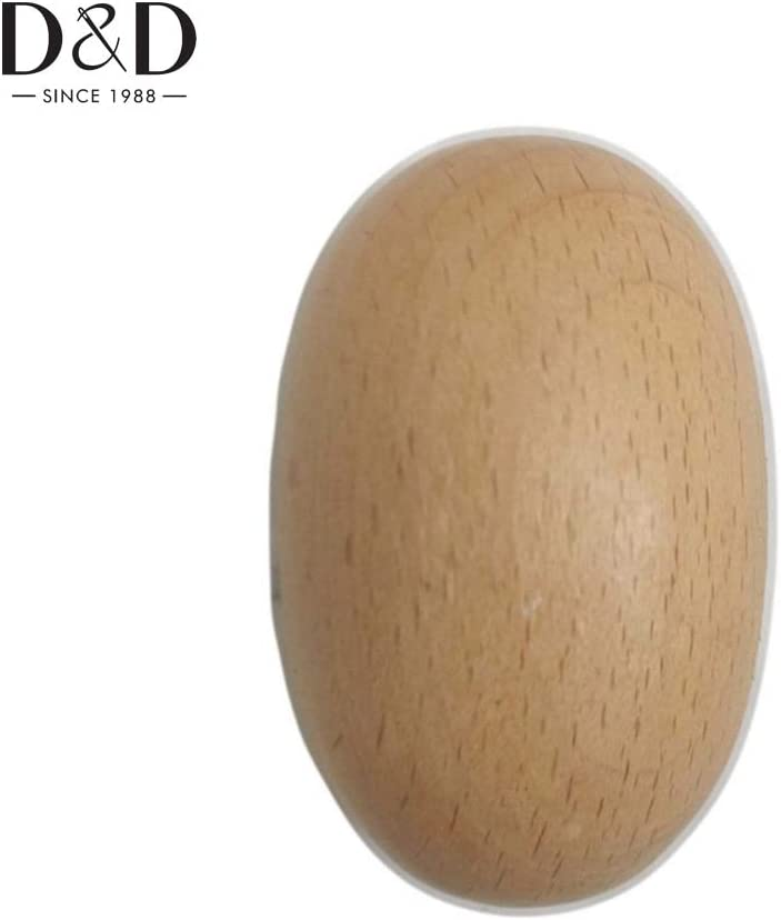 ShineBear D Solid Wooden Darning Egg Use for Sewing Socks Sewing Tools Socks Darning Tools 6.4cm4cm