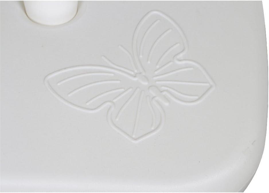 Anni Plastica Papillon 10000 Ombrellone Supporto per Parasol Pole 20 l 18-32 mm di diametro in polietilene bianco
