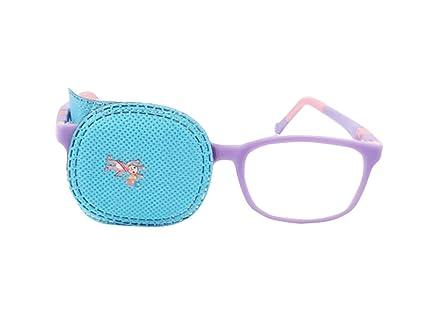 6 parches para ojos para ambliopía, parches para gafas de niños, para estrabismo, ojo vago, color azul