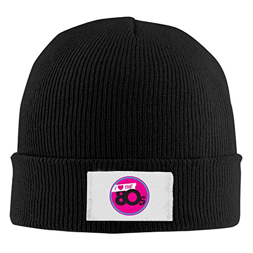 (Woolen I Love The 80s Beanie Hat)