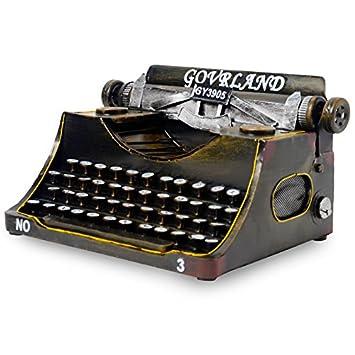 hiiy Creative adornos Vintage Estaño máquina de escribir/bar/cafetería decoración manualidades, 111