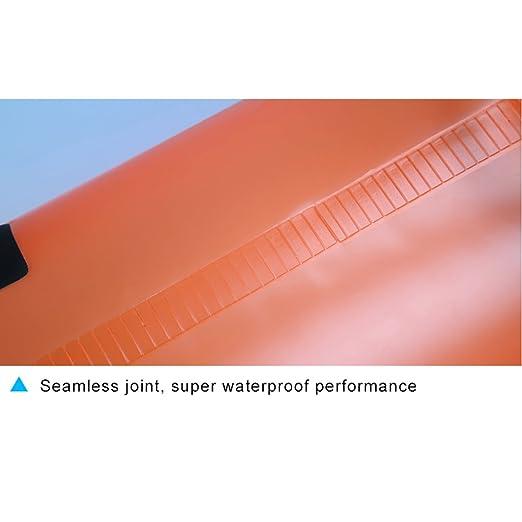 Deportes acuáticos CHSSOOD Bolso Seco Translúcido Deportes Al Aire Libre Impermeable Bolsa De PVC Playa Deriva De Natación Bolsa Orange2 L/5 L/10L/15L/20L,10L Náutica