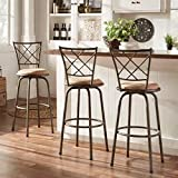 Cheap Adjustable Swivel High Back Kitchen Stools (Set of 3)