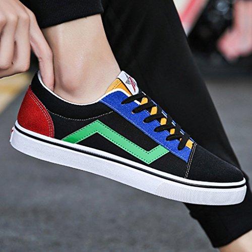 pour la Été Chaussures pour Red Nouveau YaNanHome Mode Coréen Color Green Toile Chaussures Bateau 42 Style Chaussures de Hommes Chaussures Conseil de Size Style Homme Jeunesse Chaussures wzRHq