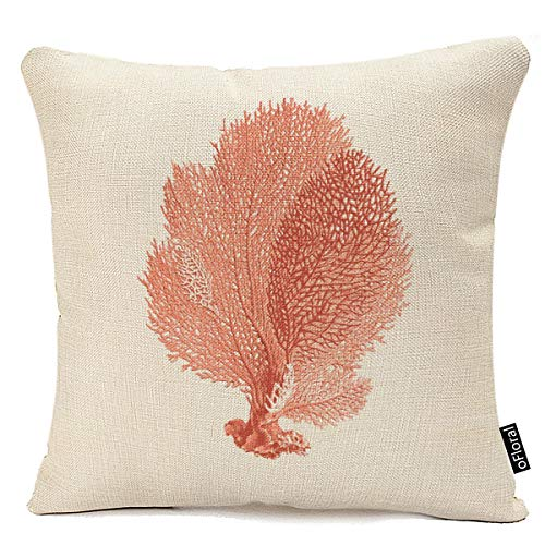 Home Decorative Cute Red Coral Throw Pillow Cover