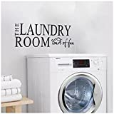 """Best Decals Bathroom Laundries - SODIAL """"The Laundry Room Loads of Fun"""" Quotes Review"""