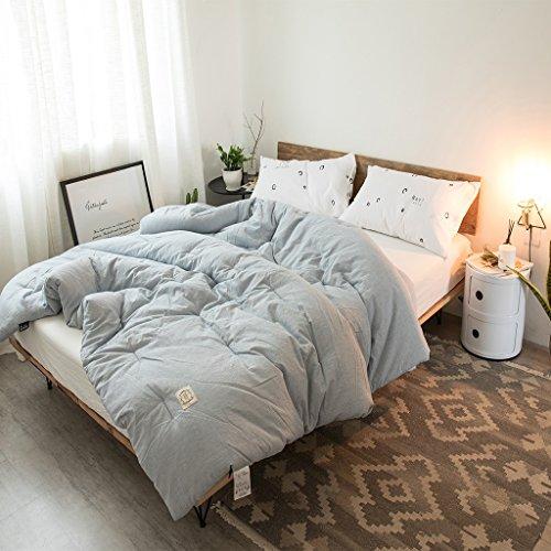 Duvet Quilt Cotton fine stripes 100% hollow fiber soft dust dust mite health anti-allergy comfortable quilt Duvet ( Color : Especially thick , Size : 150200cm ) by Duvet
