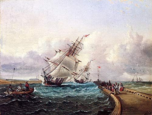 James E. Buttersworth Ships Approaching Port Private Collection 30