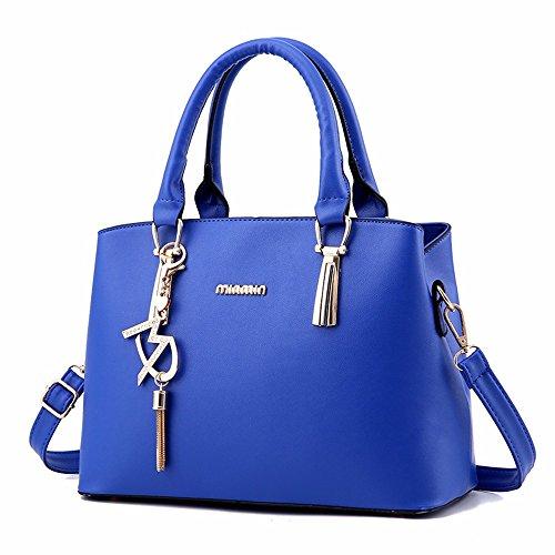 1 de Las CCZUIML de Mujeres azul Capacidad Hombro Bolso de Bag de Moda Gran Rosa EBwqOCZBx