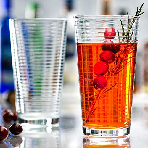 Attractive Highball Glasses, Durable Drinking Glasses [Set Of 10] for Water, Juice, Cocktails, Beer and Wine, Heavy Base…
