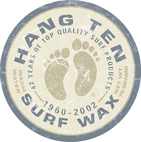Desperate Enterprises Hang Ten Surf Wax Round Tin Sign, 11.75
