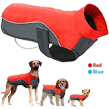 Didog Reflective Dog Winter Coat Sport Vest Jackets Snowsuit Apparel - 8 Sizes Available For Small Medium Large Dogs,Red,S Size
