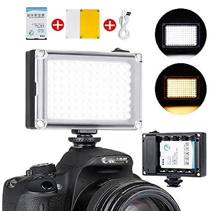 Linghuang 96 - Mini cámara de vídeo con luz LED para cámaras Canon ...