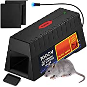 Electronic Rodent Zapper -Effective, Humane Exterminating Mice Killer Electric Mouse Trap - Electronic Rodent Rat Shock Trap - No Poison Electric Pest Control Rat, Squirrel, Mice Mouse Zapper Traps