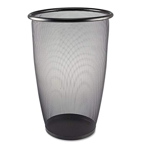 (Safco Products 9718BL Onyx Mesh Large Round Wastebasket, 9-Gallon, Black)