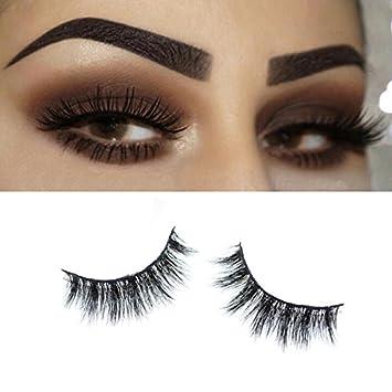 feb9ef65386 Misstar 3D Mink Fur False Eyelashes Women's Makeup Natural Long Fake Lashes  Hand-made 1