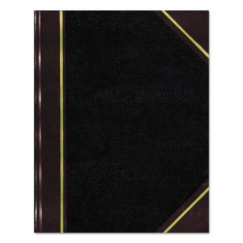 Rediform 56231 Texhide Accounting Book, Black/Burgundy, 300 Green Pages, 10 3/8 x 8 3/8 ()