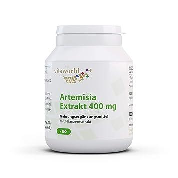 Extracto de Artemisia Annua 400mg 100 Cápsulas Vegetales Ajenjo Dulce Qing hao Vita World Alemania