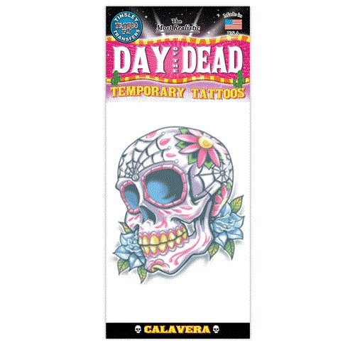 Day Of The Dead Design Temporary Tattoo- -