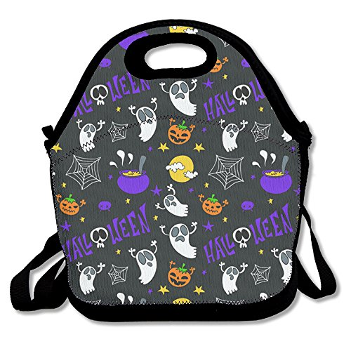 LPYHB-U8 Happy Halloween Pumpkin Scarecrow Lunch Tote Bag Picnic Lunchbox Lunch Tote Insulated Reusable Container Organizer For, Adults, Kids For School Work Outdoor