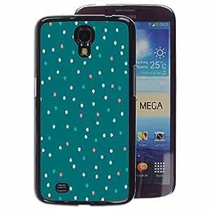A-type Arte & diseño plástico duro Fundas Cover Cubre Hard Case Cover para Samsung Galaxy Mega 6.3 (Teal Christmas Tree Winter Lights Green)