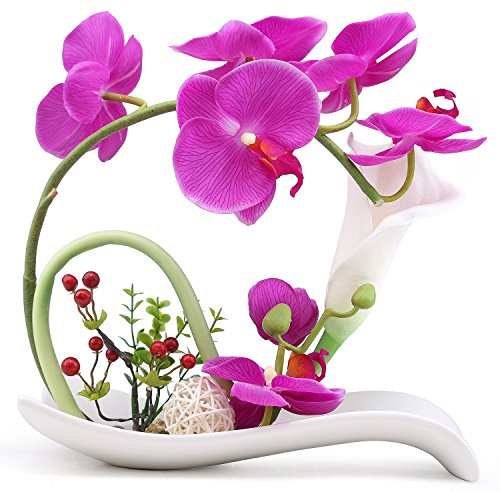 NNEE Artificial Phalaenopsis Arrangement Decorative