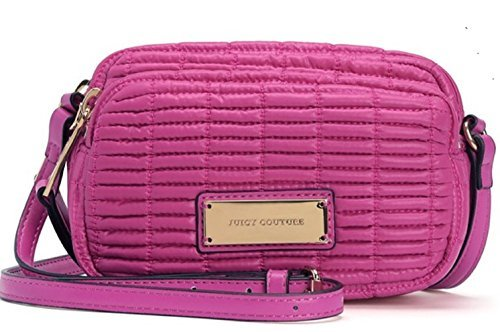 Juicy Couture Nouvelle Pop Nylon Crossbody- Pink