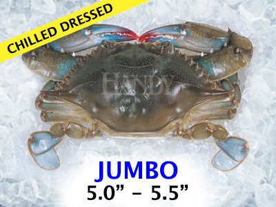 Domestic Jumbo Soft Shell Crab - Chilled Dressed (12 Crabs Total) by Handy Seafood