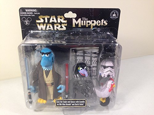 Muppets Star Wars Sam Eagle As Obi Wan and Gonzo As Darth Vader Figures ()